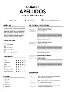 Plantilla de Curriculum Sin Foto